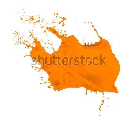 orange paint splash Stock photo © kubais
