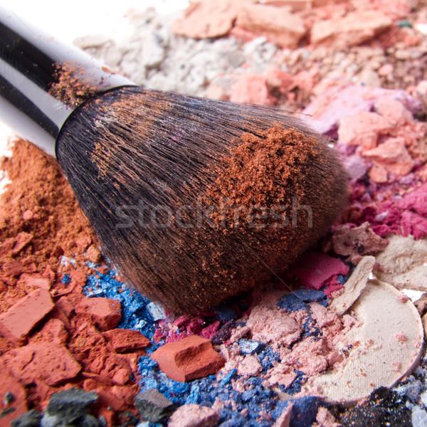 set of crushed eyeshadows Stock photo © kubais