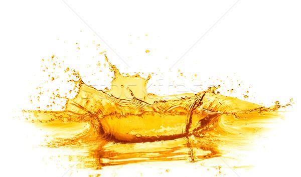Succo d'arancia splash isolato bianco alimentare frutta Foto d'archivio © kubais