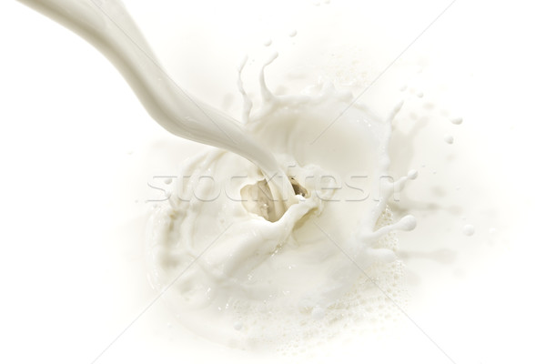 Lait Splash blanche alimentaire boire Photo stock © kubais
