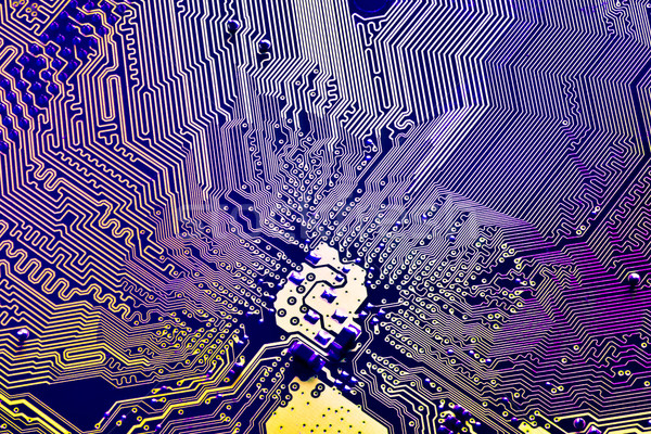 Streszczenie płytce drukowanej elektronicznej nauki wzór Zdjęcia stock © kubais