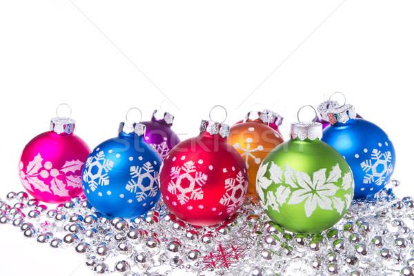 ストックフォト: クリスマス · スノーフレーク · シンボル · 孤立した · 白