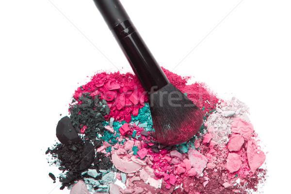 set of multicolor crushed eyeshadows Stock photo © kubais