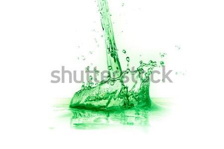 Verde líquido salpico suco branco fruto Foto stock © kubais