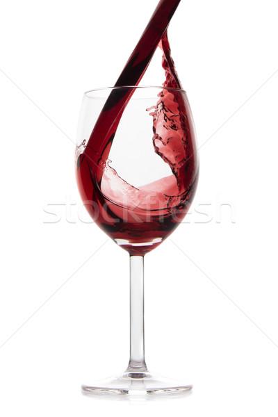 Vino tinto aislado blanco beber cena Foto stock © kubais