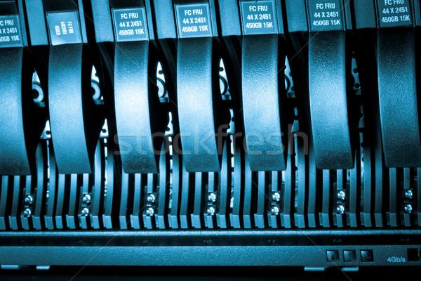 Veri merkezi detay sabit disk Sunucu ağ Stok fotoğraf © kubais