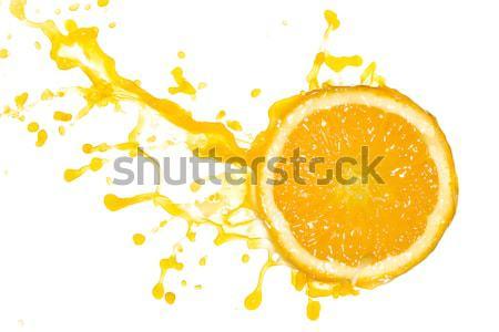 mandarine with bubbles Stock photo © kubais