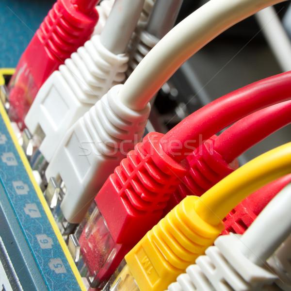 Sieci kabli technologii serwera kabel Zdjęcia stock © kubais