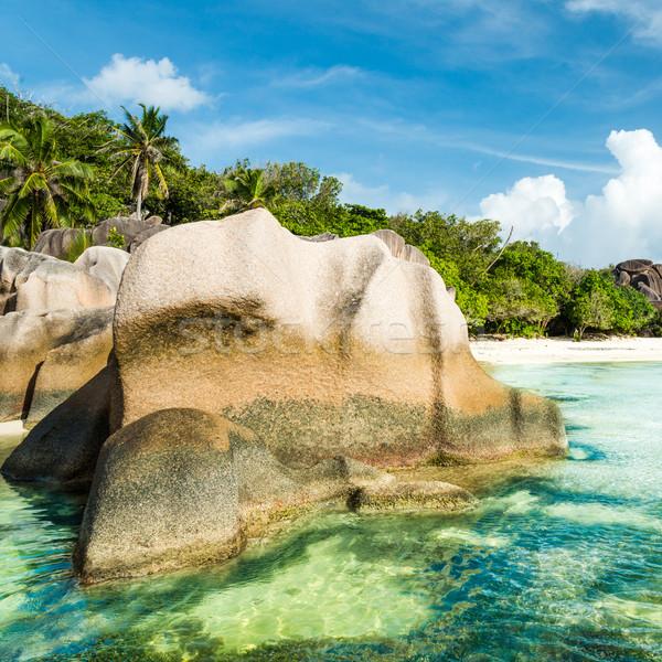 Anse Sous d'Argent beach with granite boulders Stock photo © kubais