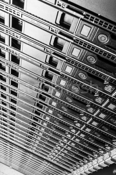 Rechenzentrum Hardware Internet Zimmer Tür Server Stock foto © kubais