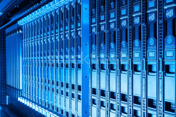 Adatközpont hardver internet szoba számítógép absztrakt Stock fotó © kubais