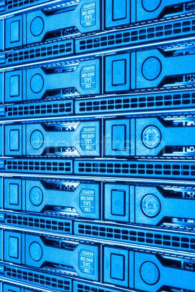 центр обработки данных аппаратных интернет комнату двери сервер Сток-фото © kubais