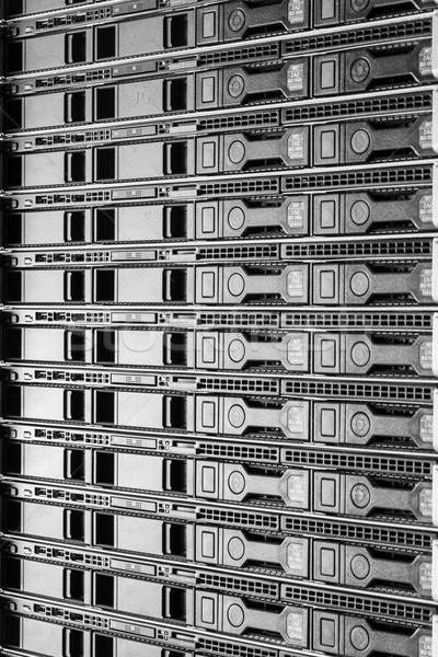 Data center sprzętu Internetu pokój drzwi serwera Zdjęcia stock © kubais