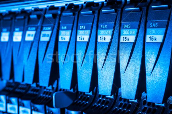 Data center Internetu technologii sieci niebieski Zdjęcia stock © kubais
