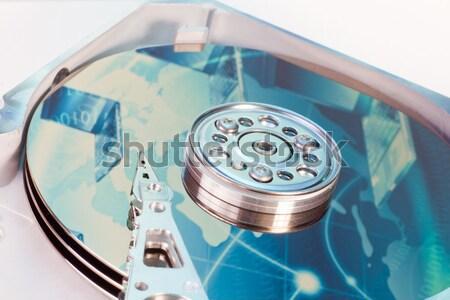 Disque dur résumé réflexion ordinateur Photo stock © kubais