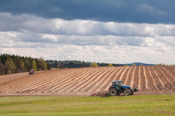 tractor plowing filed Stock photo © kubais