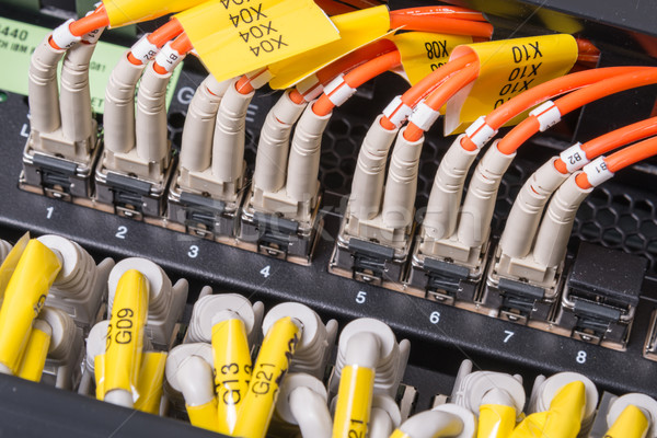 network cables connected to switch Stock photo © kubais