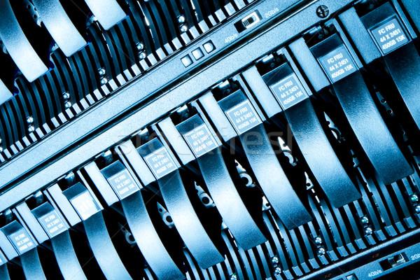 Data center szczegół działalności Internetu bezpieczeństwa niebieski Zdjęcia stock © kubais