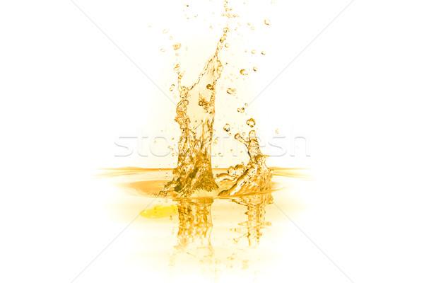 Suco de laranja salpico isolado branco comida verão Foto stock © kubais