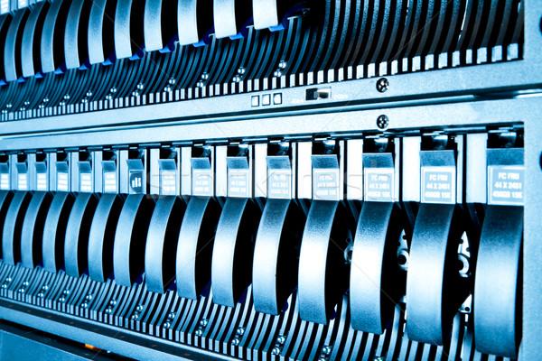 Veri merkezi detay iş Internet güvenlik mavi Stok fotoğraf © kubais