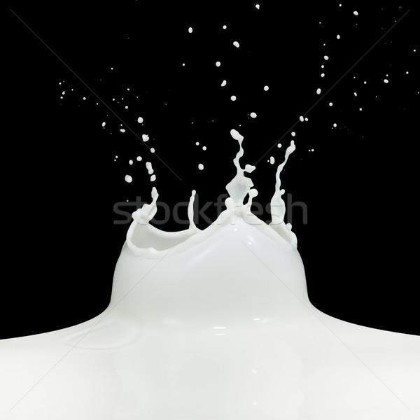 Latte splash isolato nero vernice Foto d'archivio © kubais