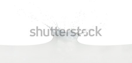 Latte splash isolato bianco abstract Foto d'archivio © kubais