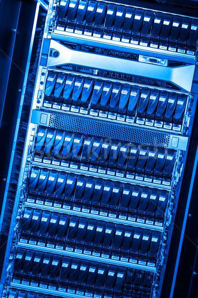 Data center Internetu technologii sieci niebieski usługi Zdjęcia stock © kubais