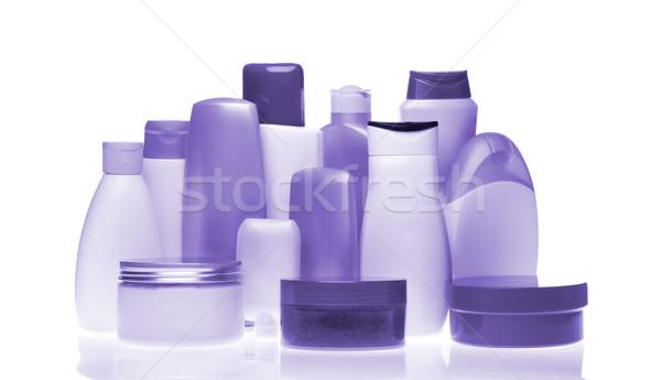 Kosmetycznych butelek zestaw odizolowany biały kobiet Zdjęcia stock © kubais