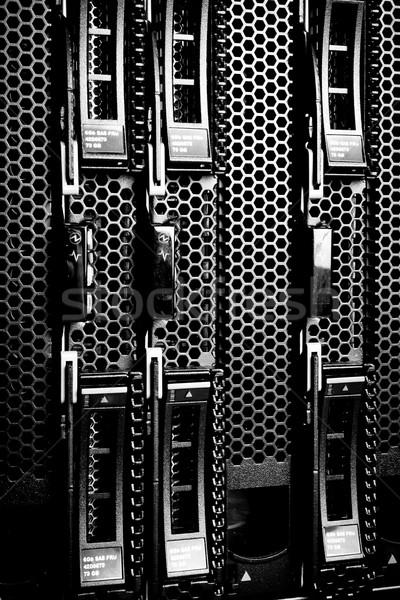 Rechenzentrum Detail Festplatte Haufen Server Netzwerk Stock foto © kubais