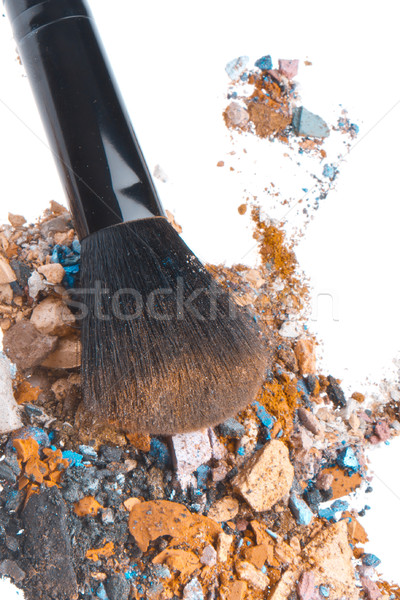 Mixte brosse isolé blanche texture oeil Photo stock © kubais