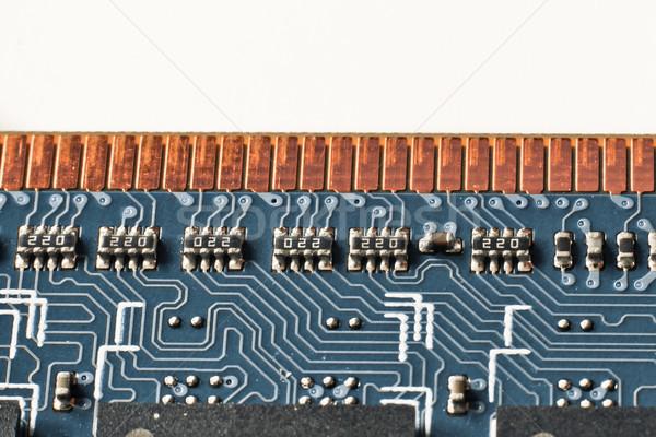Zdjęcia stock: Pamięć · moduł · Internetu · prędkości · złota