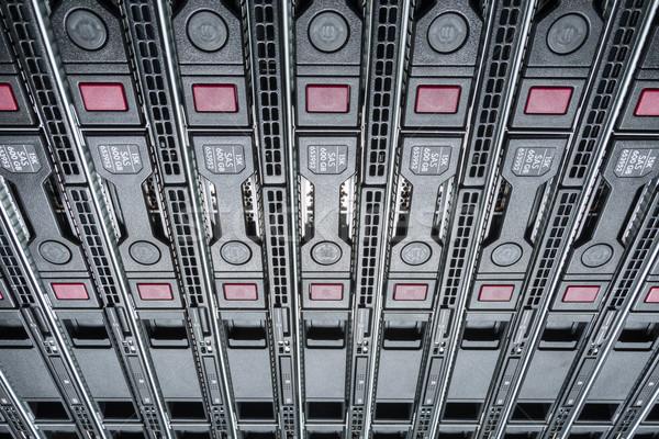 Data center hardware internet stanza computer abstract Foto d'archivio © kubais
