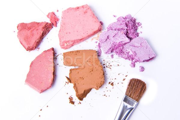 Fard à paupières isolé blanche texture oeil couleur Photo stock © kubais