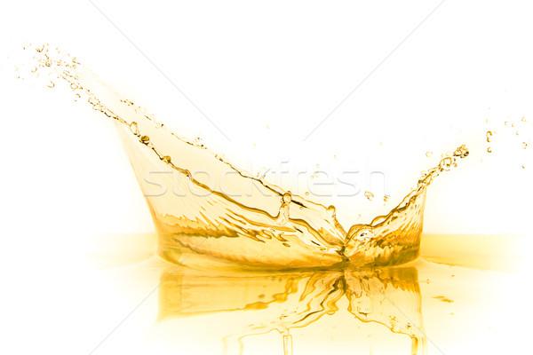 Jugo de naranja Splash aislado blanco alimentos verano Foto stock © kubais