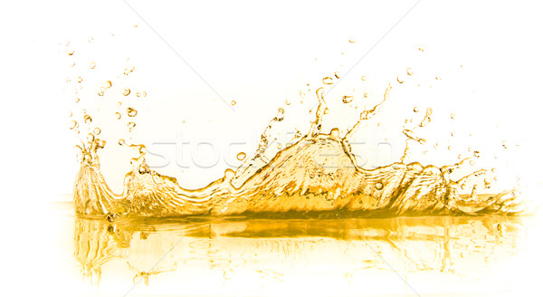 Sinaasappelsap splash geïsoleerd witte voedsel zomer Stockfoto © kubais