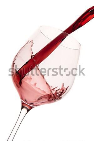 pouring red wine  Stock photo © kubais