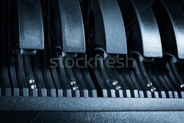 Adatközpont közelkép számítógép internet technológia szerver Stock fotó © kubais