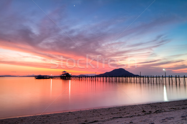 sunset at Kanawa Island, Indonesia Stock photo © kubais