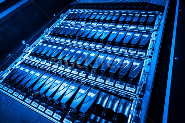 Veri merkezi Internet teknoloji ağ mavi hizmet Stok fotoğraf © kubais
