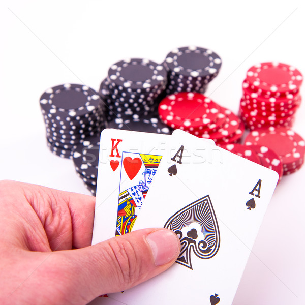 king of hearts and black jack Stock photo © kubais
