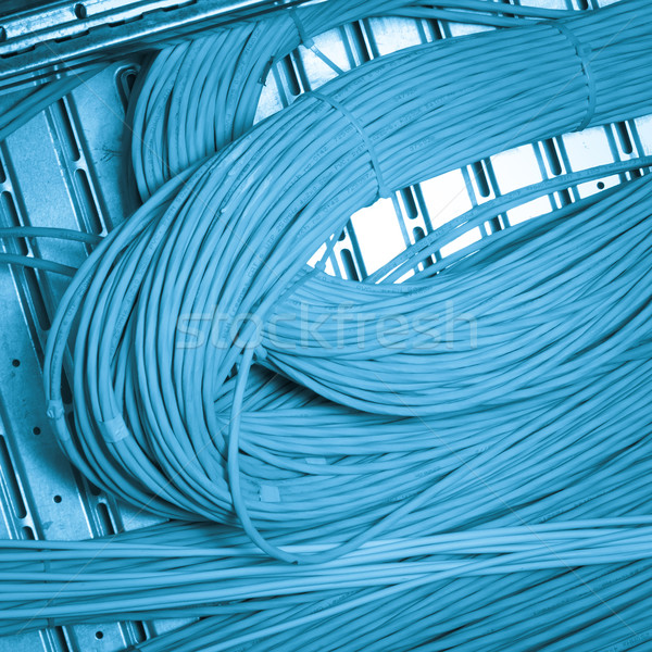 Netzwerk Kabel Technologie blau Gruppe Stock foto © kubais