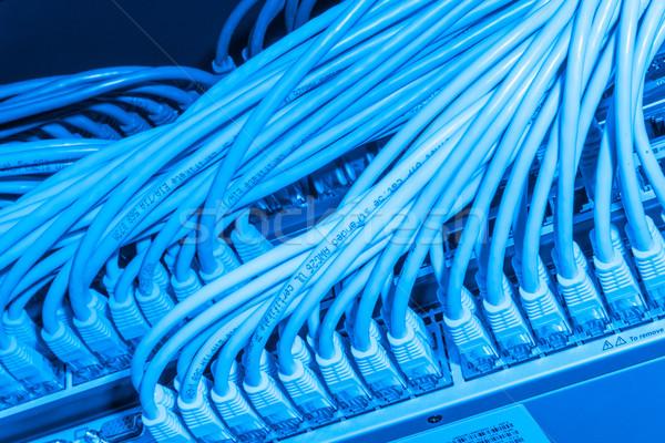 Photo stock: Réseau · câbles · switch · matériel