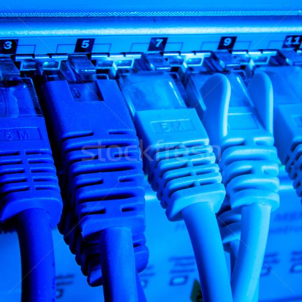 Ağ kablolar teknoloji kablo iletişim Stok fotoğraf © kubais