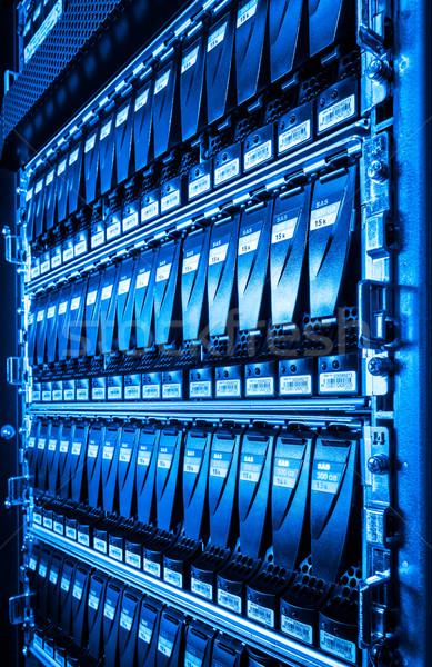 центр обработки данных интернет технологий сеть синий службе Сток-фото © kubais