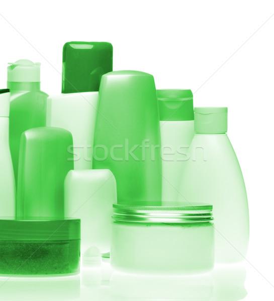 Cosméticos botellas establecer aislado blanco belleza Foto stock © kubais
