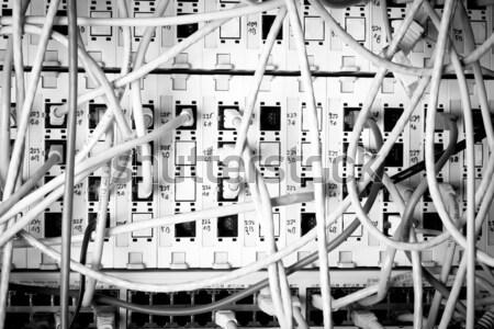 Ağ kavram altyapı kablolar veri merkezi Stok fotoğraf © kubais