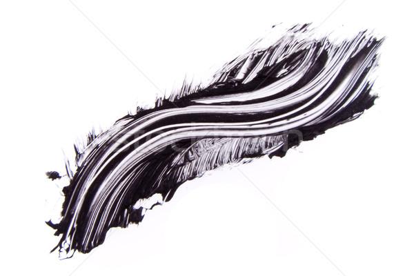 Zwarte mascara geïsoleerd witte oog verf Stockfoto © kubais