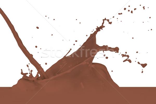 Süt çikolata sıçrama yalıtılmış beyaz Stok fotoğraf © kubais
