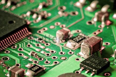 Elektronische circuit board wetenschap macht patroon Stockfoto © kubais