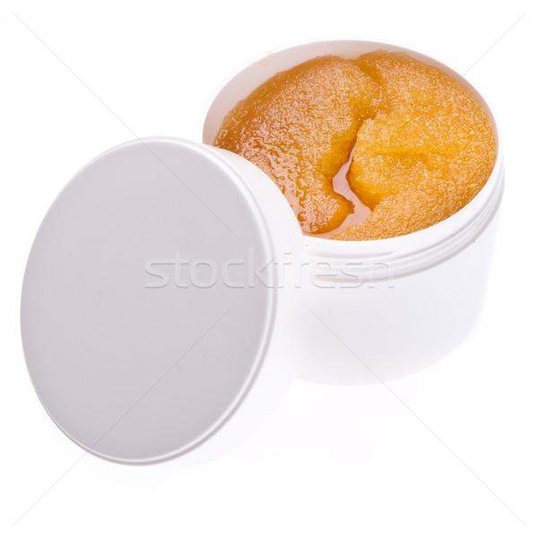 Test bozót méz konténer izolált fehér Stock fotó © kubais